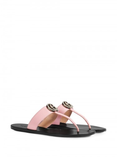GG THONG SANDAL IN LEATHER