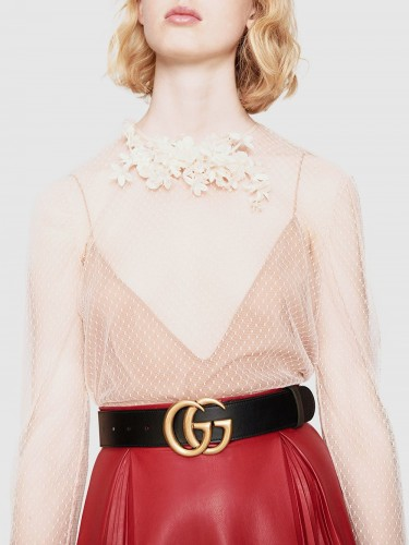 GUCCI, GG Marmont leather belt