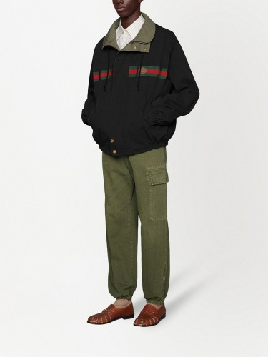 GUCCI, Reversible nylon jacket