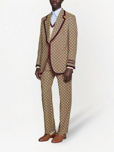 GUCCI, GG canvas trousers