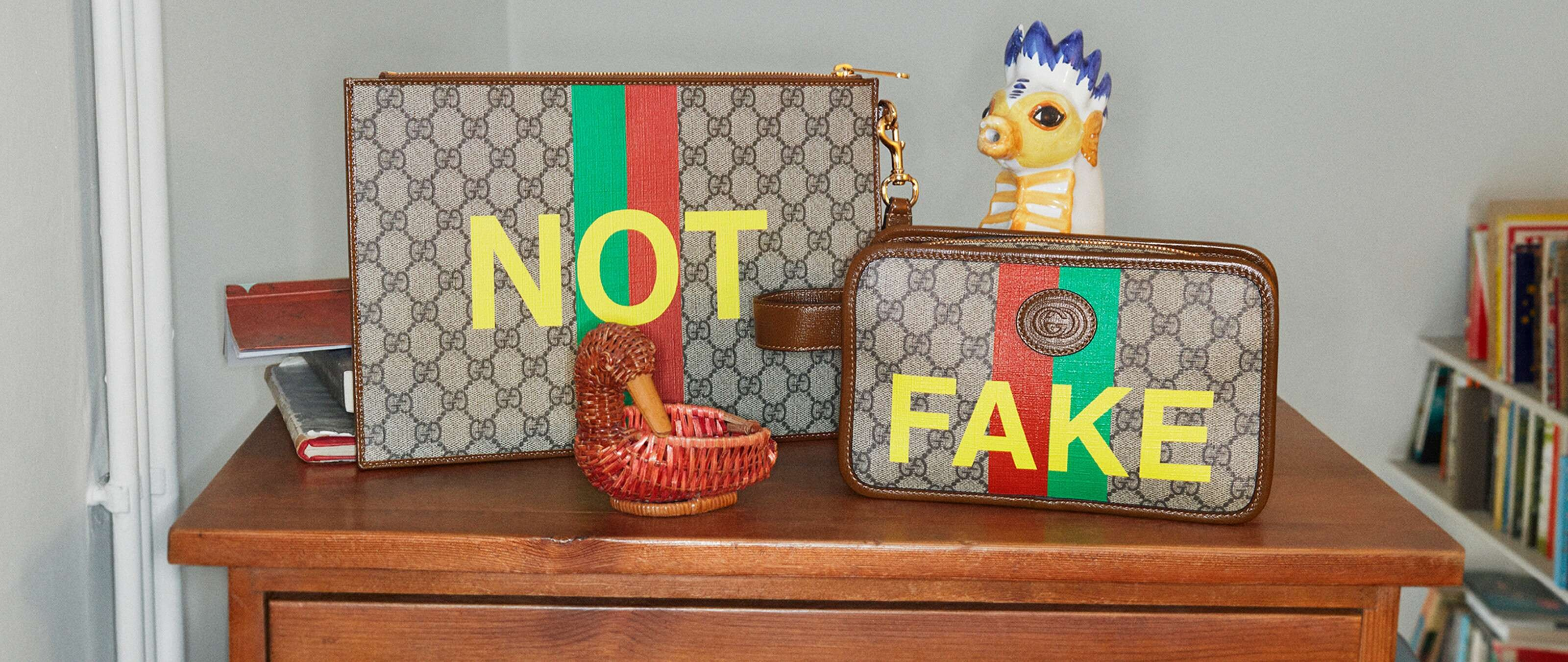 Fake Gucci / no, a new provocation.